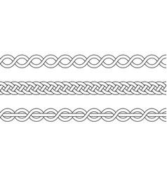 Macrame crochet weaving braid knot vector