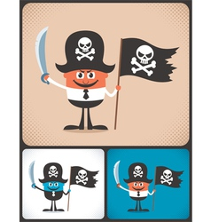 Pirate Businessman vector image vector image