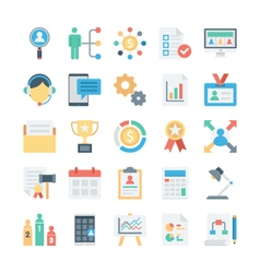 Project management colored icons 2 vector