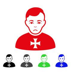Sad order chevalier icon vector