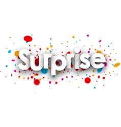 Surprise paper banner vector