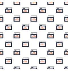 Top secret folder pattern vector