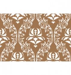 Vintage damask pattern vector