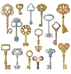 Vintage Keys Set vector image