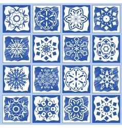 Vintage ceramic tiles geometric floor design vector