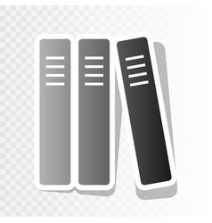 Row of binders office folders icon  new vector