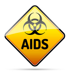 Aids hiv biohazard virus danger sign with reflect vector