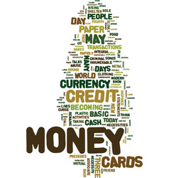 Money in a whole new avatar text background word vector