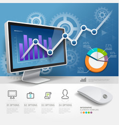 3d infographics web design template vector image