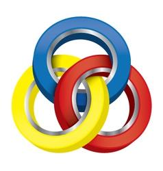 three-circle vector image