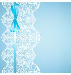 Lace on blue background vector