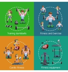 Set of 2x2 fitness images vector
