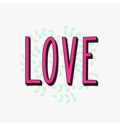 Romantic love simple lettering vector