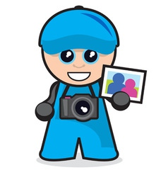 Little guy series - photographer vector