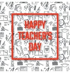 Teachers Day Holidays vector image