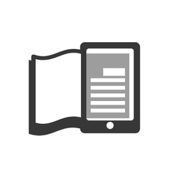 E-book icon reading and learning online design vector
