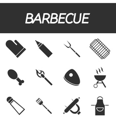 Barbecue icon set vector