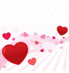 abstract valentine hearts background i vector image vector image