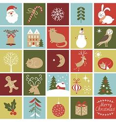 Advent calendar christmas vector