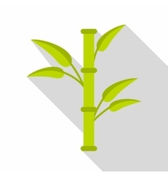 Bamboo icon flat style vector