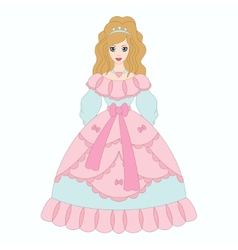 Beautiful princess girl in ancient dress vector image vector image