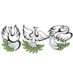 Birds symbols vector image vector image
