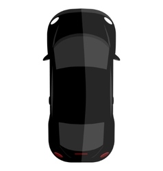 Black car top view vector