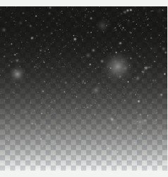 blurred bokeh particles transparent snowflake vector image