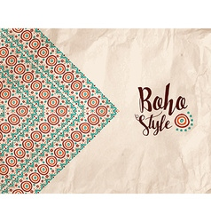 Boho style paper texture tribal handmade design vector