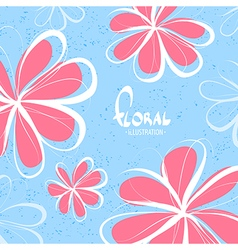 Bright sketchy flowers vector