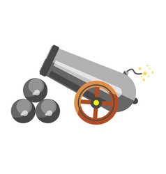 Cannon placed near balls vector