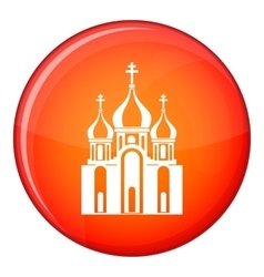 Church building icon flat style vector