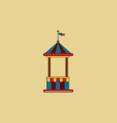 Circus ticket cart icon vector