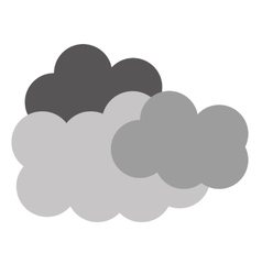 Clouds shapes icon vector