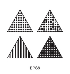 Dots triangle icon set vector image