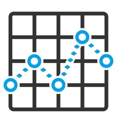 Dotted line grid plot toolbar icon vector