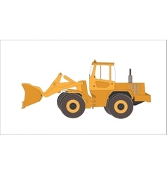 Excavator work isolated vector