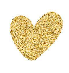 heart love gold golden design element happy vector image