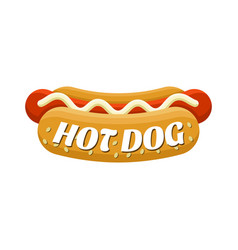 hot dog street food colorful image vector image vector image