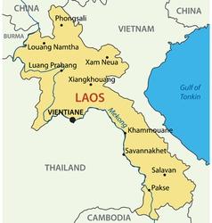 Lao peoples democratic republic - map - laos vector
