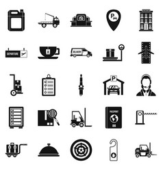 Loader icons set simple style vector