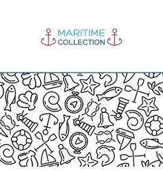 Maritime collection background vector image vector image
