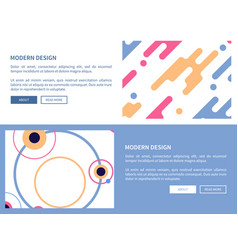 modern design with buttons vector image vector image