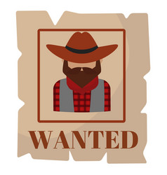 Most wanted man in hat poster concept grunge vector