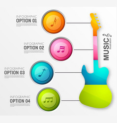 Music design infographics vector