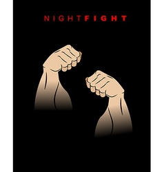 Night fight fists of darkness kick of night two vector
