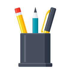 pencil stand icon vector image vector image