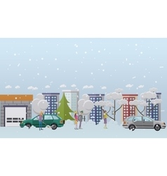 People winter activities vector