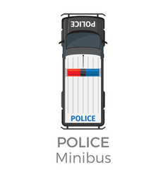 police minibus car service means of transportation vector image