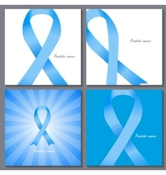 Prostate Cancer Awareness Blue Ribbon vector image vector image